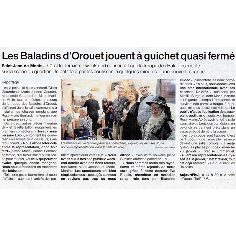 Ouest France du 26/01/2020