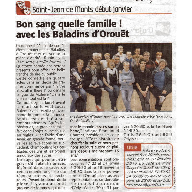 Le courrier Vendéen du 04-12-2014