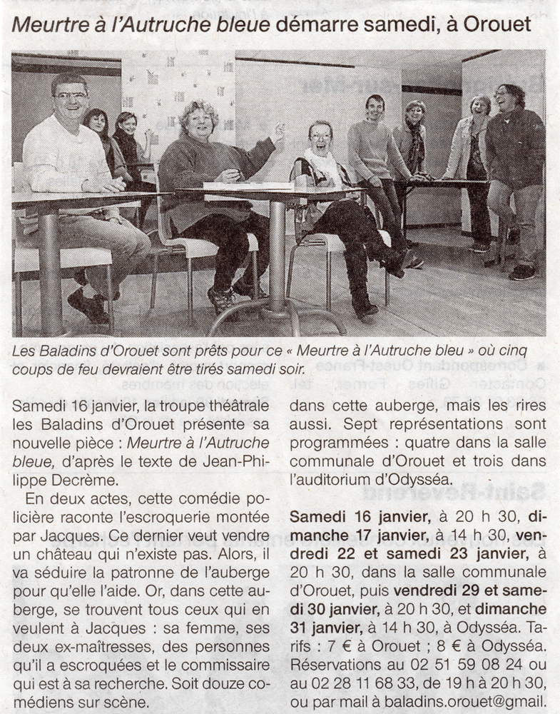 Ouest France 15-01-2016