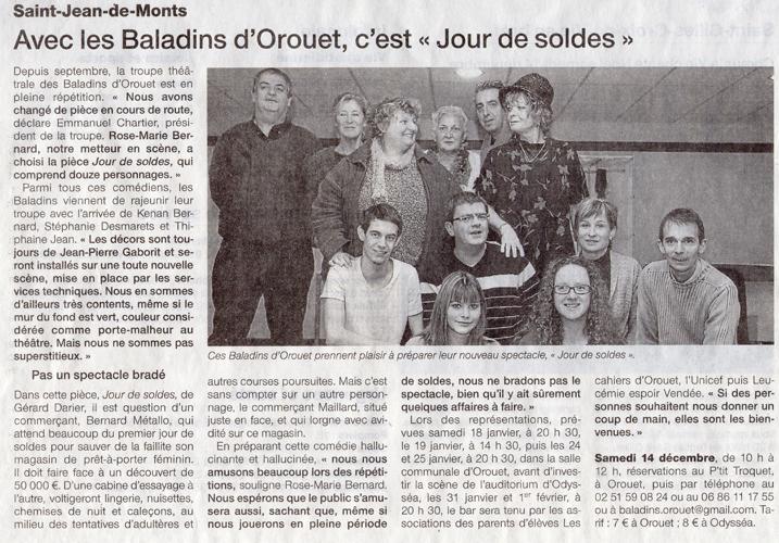 Ouest France du 11/12/2013