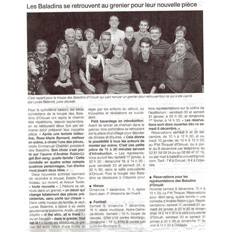 Ouest France du 06-12-2014