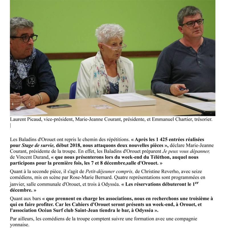 Ouest France du 10-10-2018