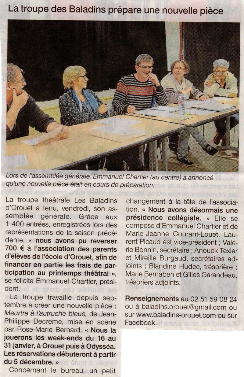 Ouest France du 11-11-2015