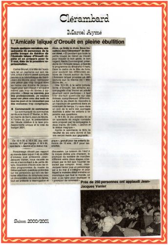 Saison 2000-2001 - Article 3