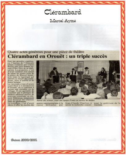 Saison 2000-2001 - Article 1