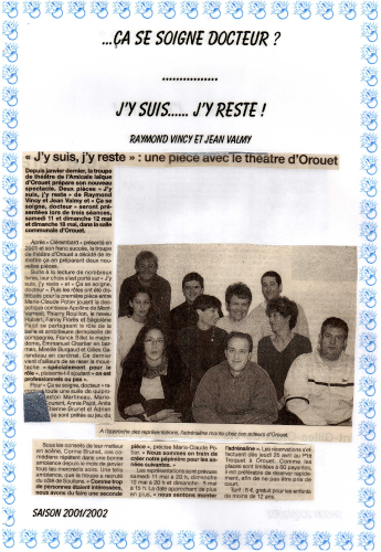 Saison 2001-2002 - Article 2