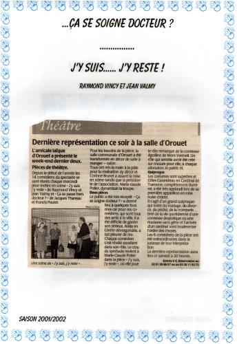 Saison 2001-2002 - Article 3