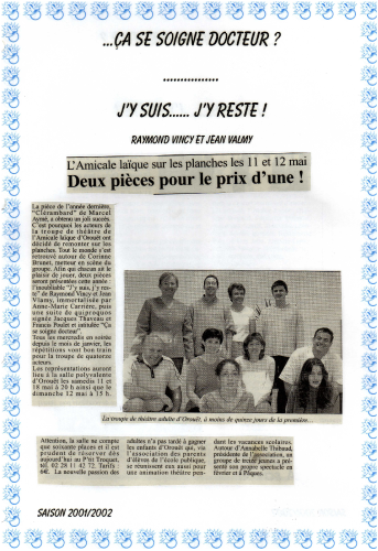 Saison 2001-2002 - Article 4