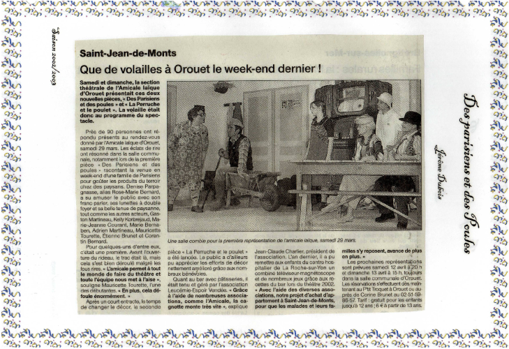 Saison 2002-2003 - Article 3