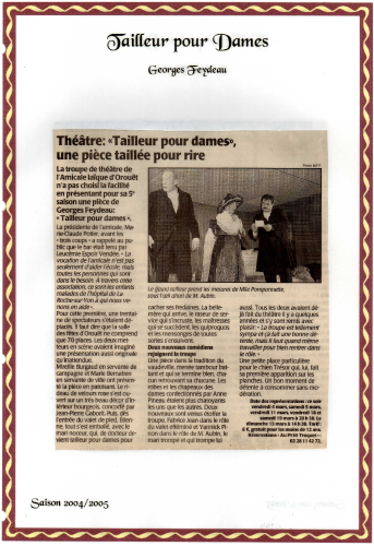 Saison 2004-2005 - Article 1