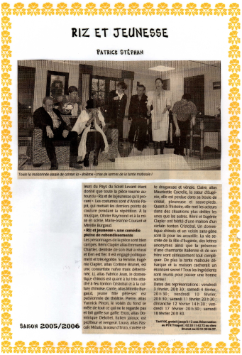 Saison 2005-2006 - Article 2