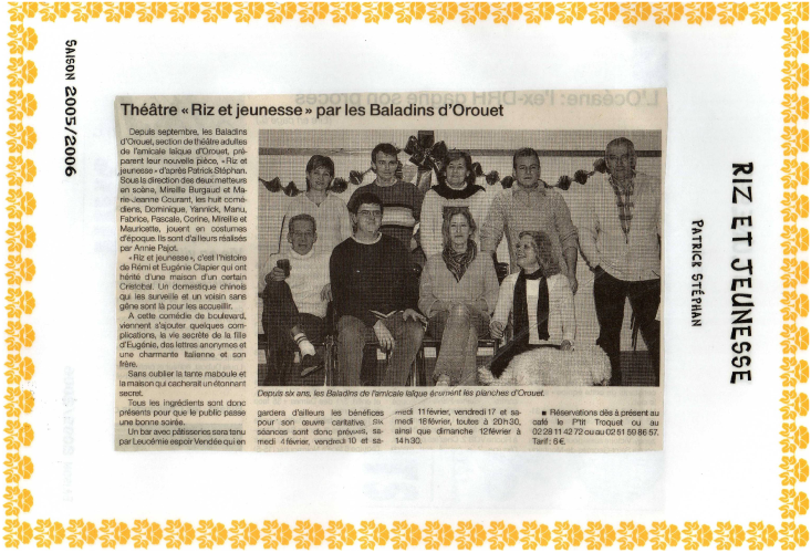Saison 2005-2006 - Article 3