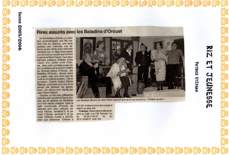 Saison 2005-2006 - Article 4