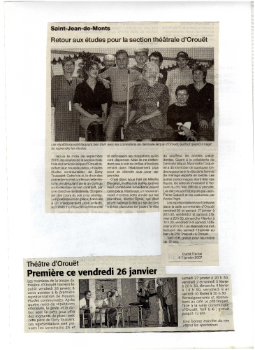 Saison 2006-2007 - Article 1