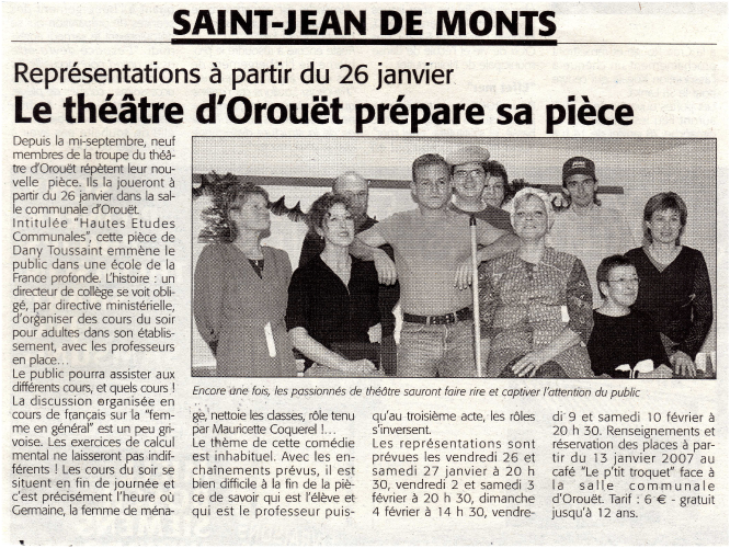 Saison 2006-2007 - Article 3