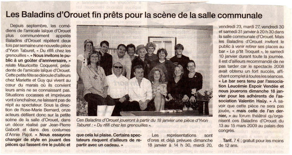 Saison 2008-2009 - Article 1