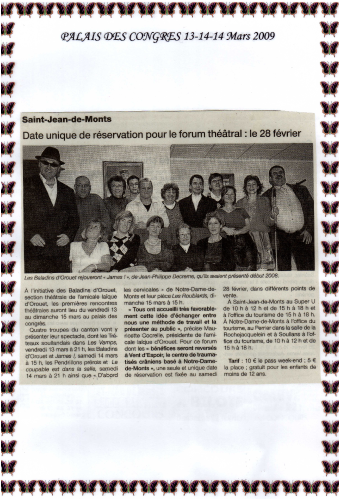 Saison 2008-2009 - Article 5