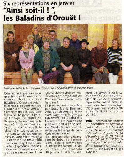 Saison 2010-2011 - Article 1