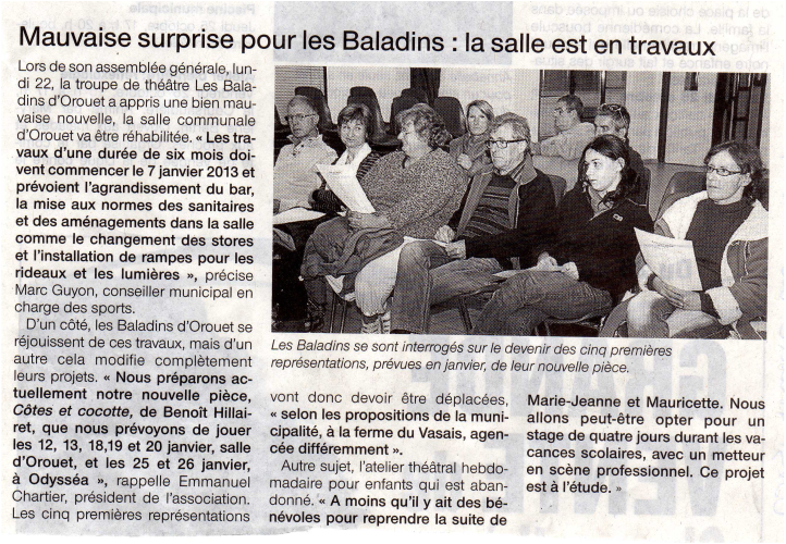 Saison 2012-2013 - Article 1