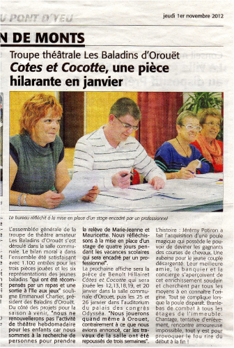 Saison 2012-2013 - Article 2