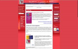 Impression d'écran du site Internet de la Fédération Nationale des Compagnies de Théâtre et d'Animation