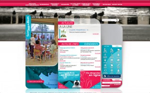 Impression d'écran du site Internet de la Mairie de Saint-Jean-de-Monts